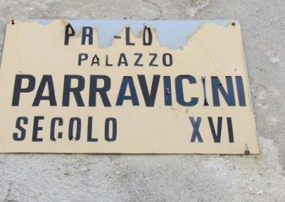 Targa con data del palazzo Parravicini a Tirano