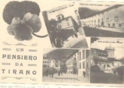 Foto storiche della piazzetta Parravicini a Tirano