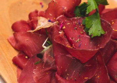 Tagliere con bresaola valtellinese - ristorante Parravicini a Tirano