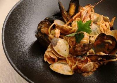 Piatto di pesce - ristorante Parravicini Tirano