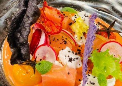 Antipasto di pesce - ristorante Parravicini a Tirano