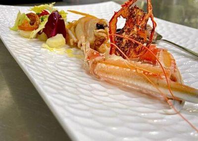 Secondo piatto di pesce - ristorante Parravicini a Tirano