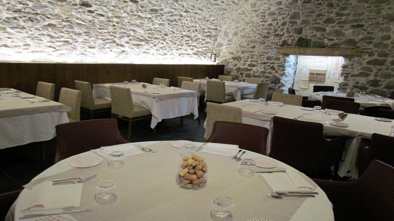 Sala Sassella del ristorante Parravicini a Tirano