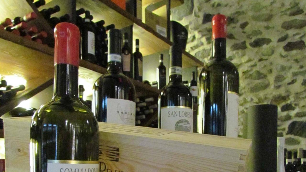 Vini della cantina del ristorante Parravicini a Tirano